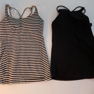 2 lululemon tanks with built in bras